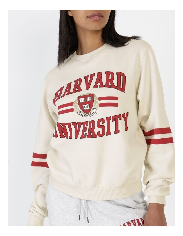 Seal Logo Lines Harvard Crew Jumper Vintage White image 6