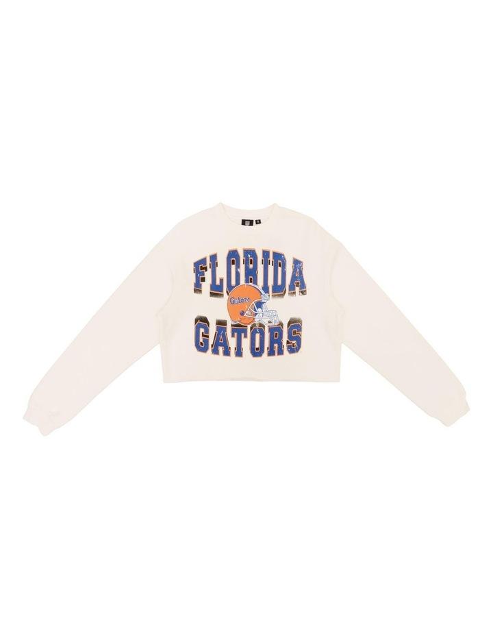 Vintage 90S Florida Crop Crew Jumper Vintage White image 1