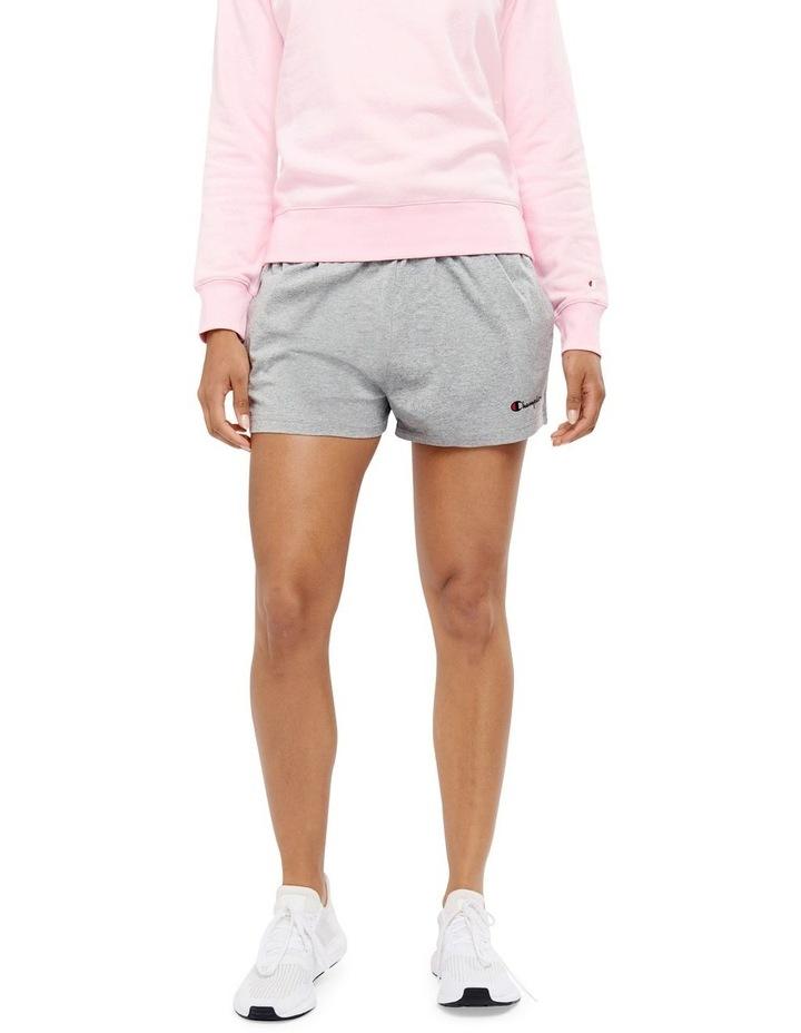 C Logo Oxford Heather Jersey Shorts Grey image 1