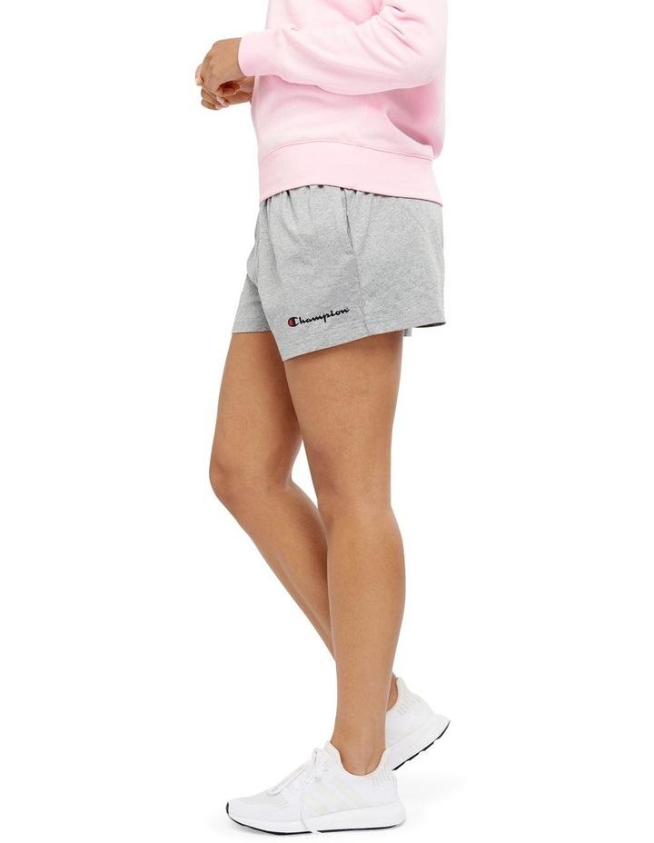 C Logo Oxford Heather Jersey Shorts Grey image 2