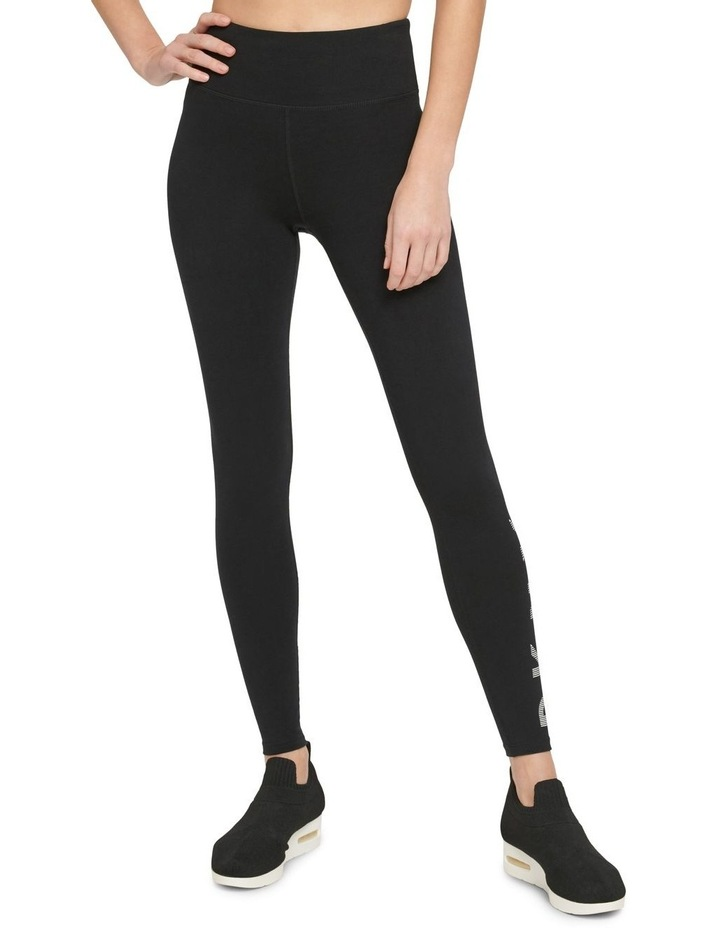 HIGH-WAIST FULL LENGTH STRIPED LOGO LEGGING image 1