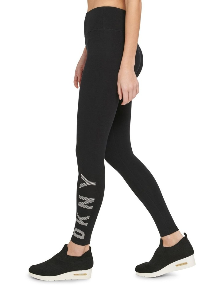 HIGH-WAIST FULL LENGTH STRIPED LOGO LEGGING image 2