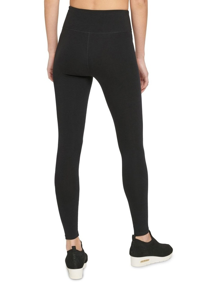 HIGH-WAIST FULL LENGTH STRIPED LOGO LEGGING image 3