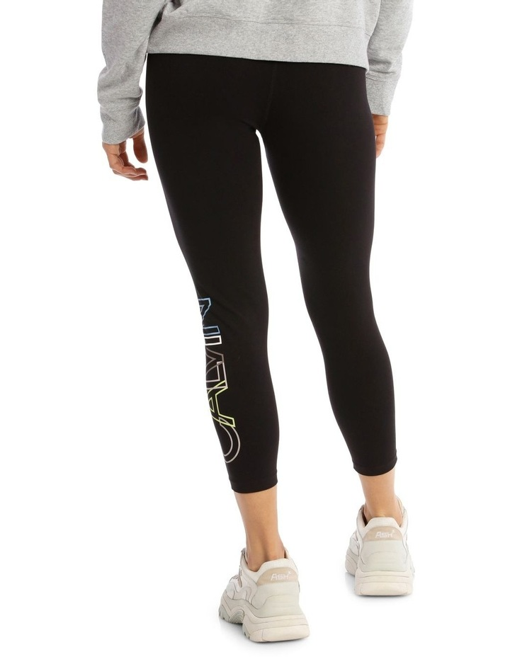 CK Performance Outline Overlap Logo High Waist 7/8 Tight PF0P6141 image 3