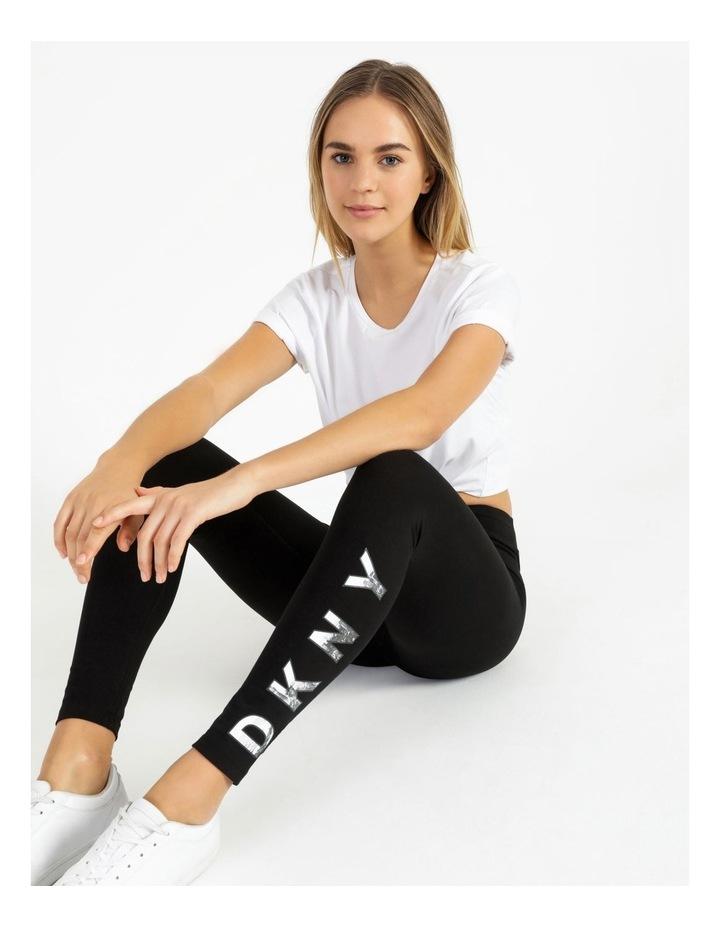 DKNY Active High Waist Full Length Logo Legging DP7P1223 image 5