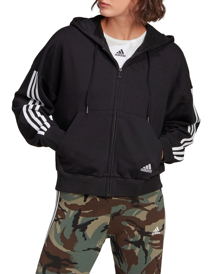 3 Stripe French Terry Full Zip Hoodie GL1462 image 5