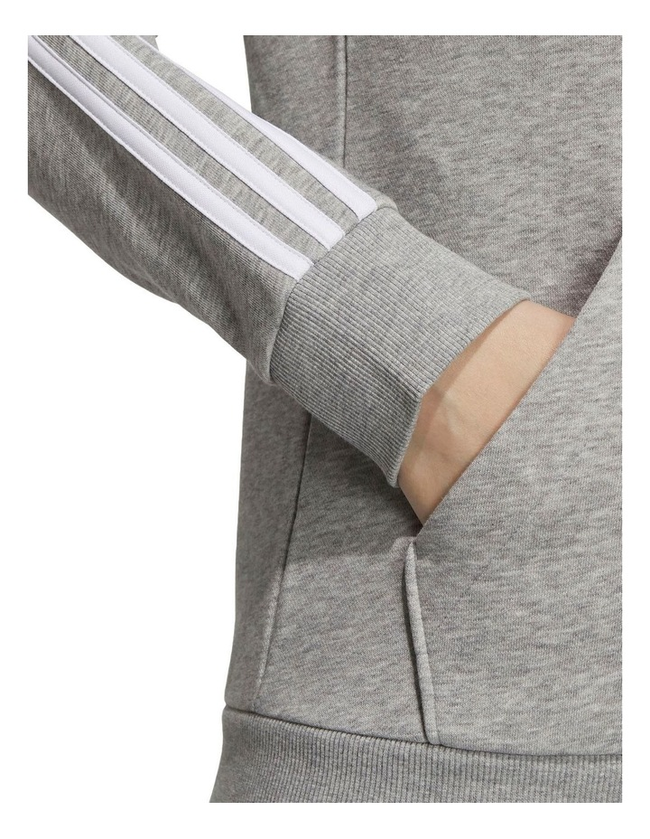 3 Stripe Fleece Full Zip Hoodie GV6021 image 5
