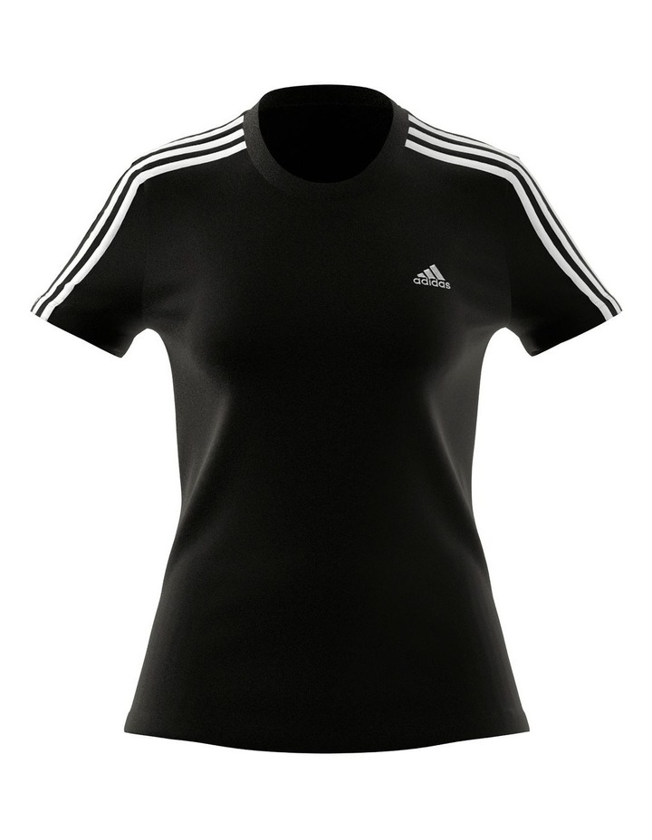 Essentials 3 Stripe Slim T-Shirt GL0784 image 1
