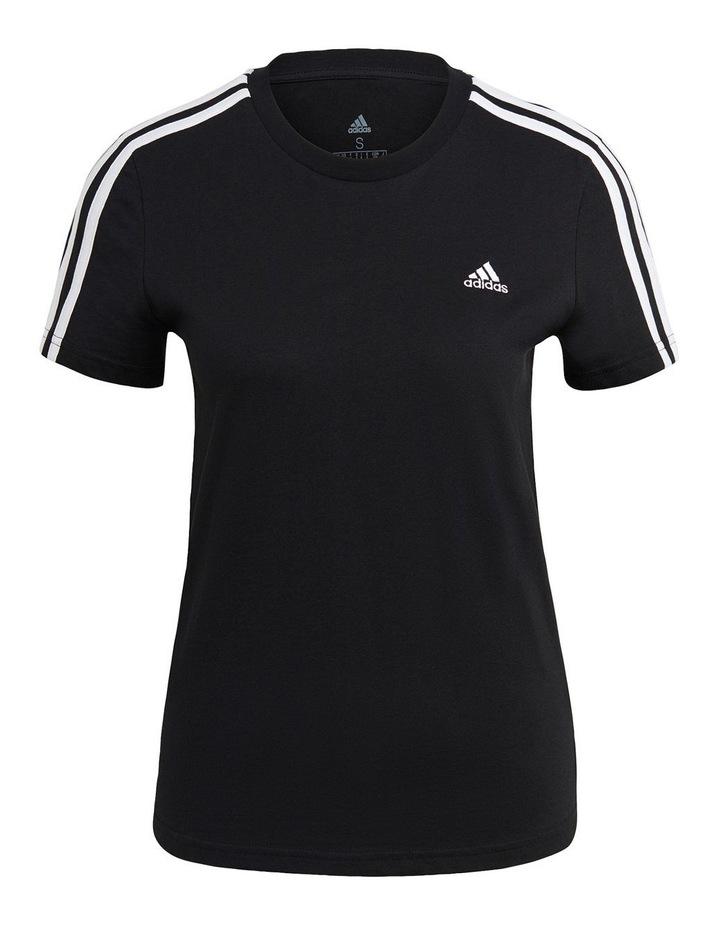 Essentials 3 Stripe Slim T-Shirt GL0784 image 2