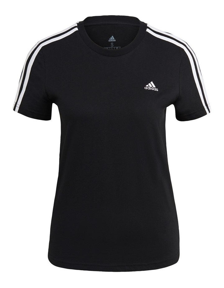 Essentials 3 Stripe Slim T-Shirt GL0784 image 3