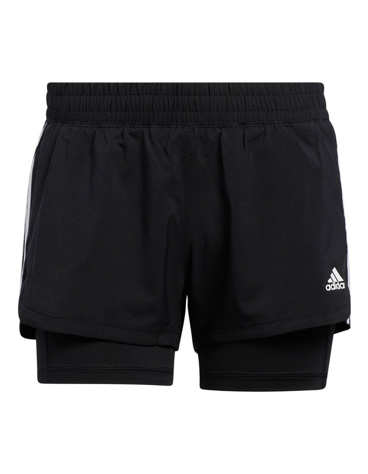 Adidas Pacer 3 Stripe Woven 2 In 1 Short GL7686 image 1
