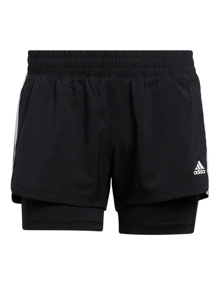 Adidas Pacer 3 Stripe Woven 2 In 1 Short GL7686 image 2