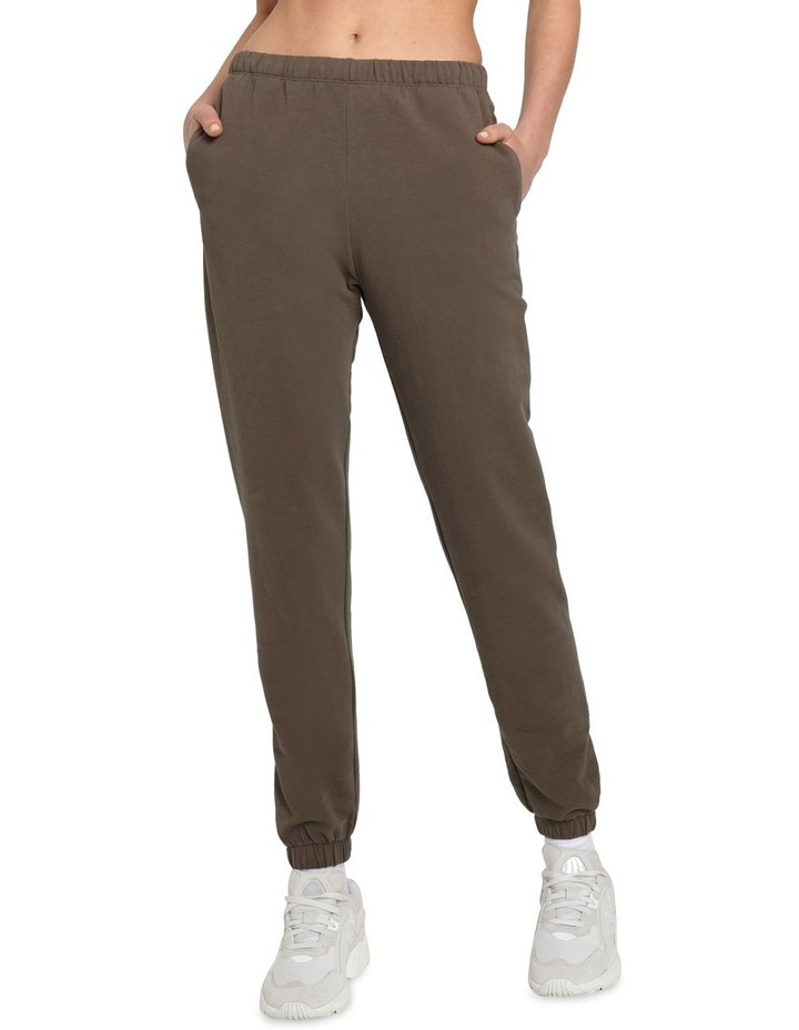 Original Stretch Dark Brown Tapered Pants image 1