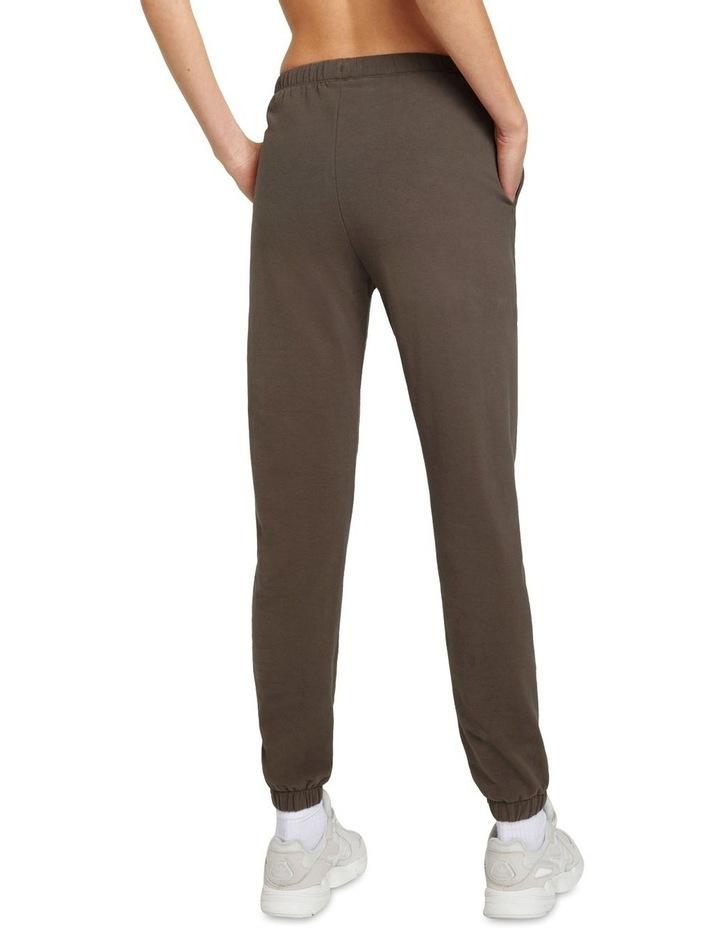 Original Stretch Dark Brown Tapered Pants image 2