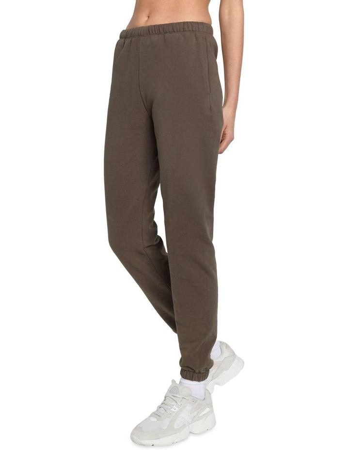 Original Stretch Dark Brown Tapered Pants image 3