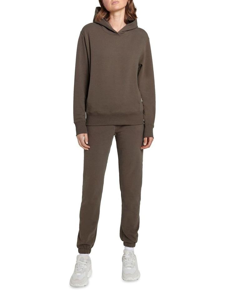 Original Stretch Dark Brown Tapered Pants image 4