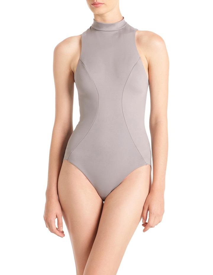 'Shapewear as Outerwear' Racer Neck Bodysuit LEVMSRABS image 1