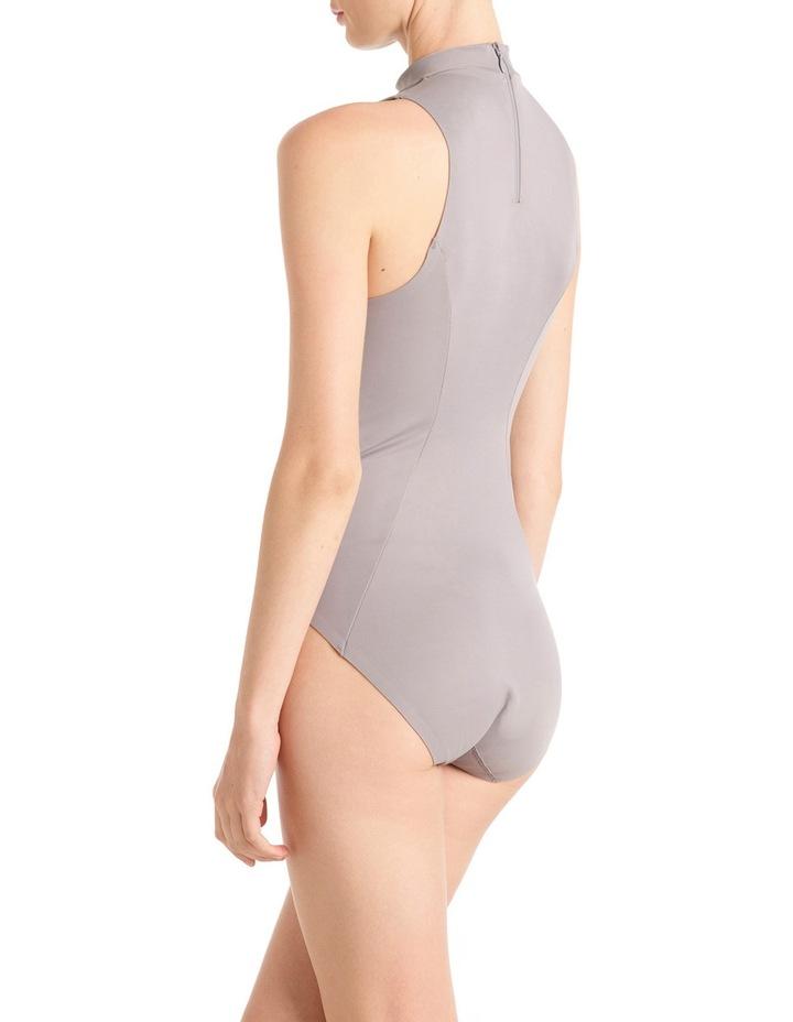'Shapewear as Outerwear' Racer Neck Bodysuit LEVMSRABS image 2