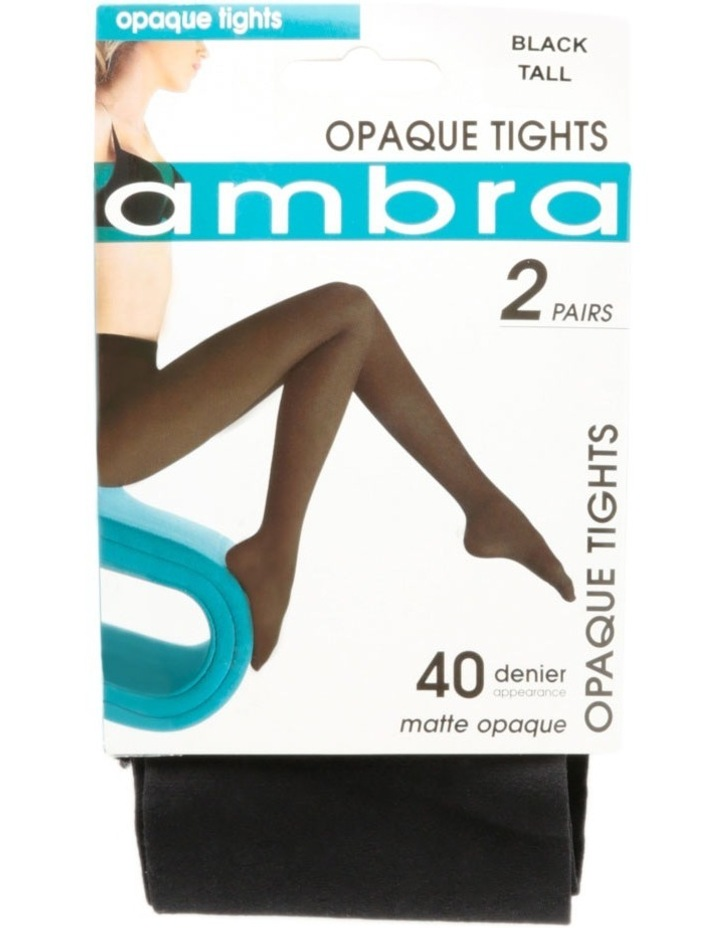 2PP 40D Opaque Black Tights image 1