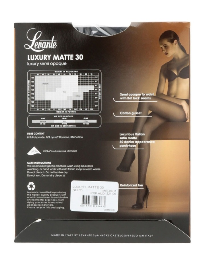 'Luxury' Matte Semi Opaques 30D LUXM30TI in Black and Grey image 4