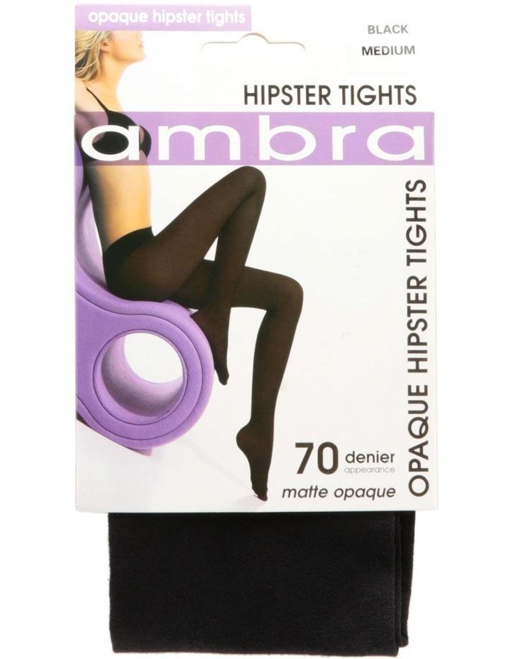 70D Hipster Matte Opaque Black Tights HIPOP70TI image 3