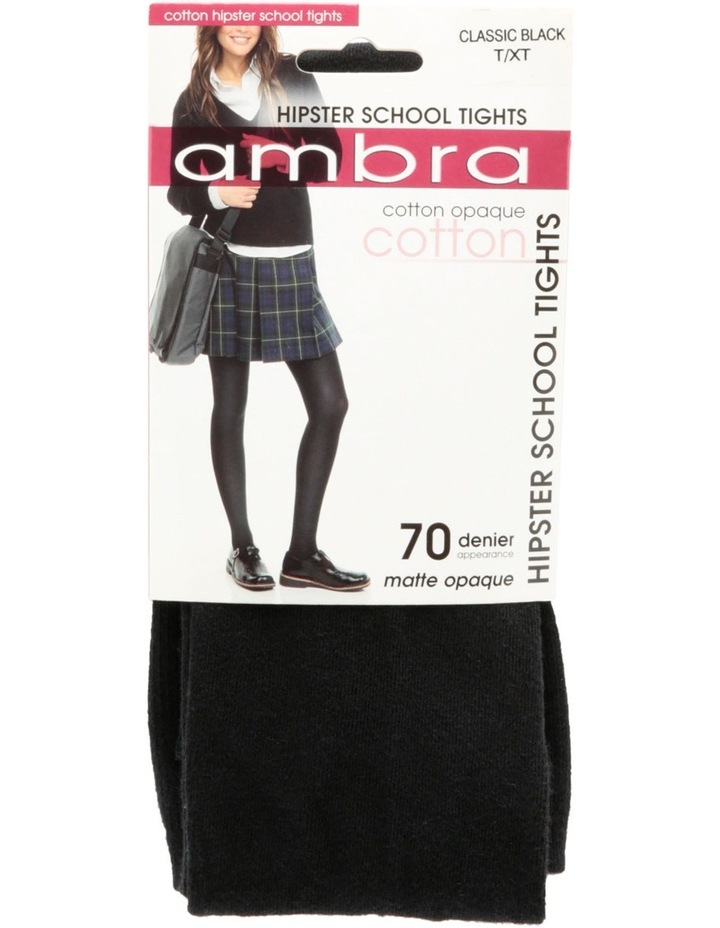 Black Cotton Hipster School Tight image 3