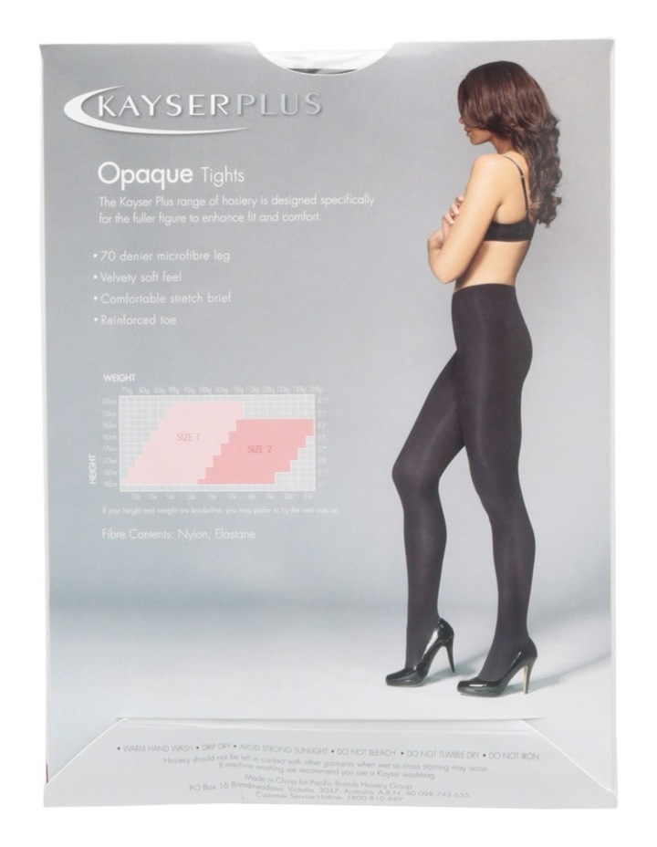 Plus Size Opaque Tights K10866 image 4