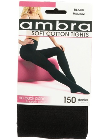 8ab1dd85437 Ambra Cotton Opaque Black Tights 150D