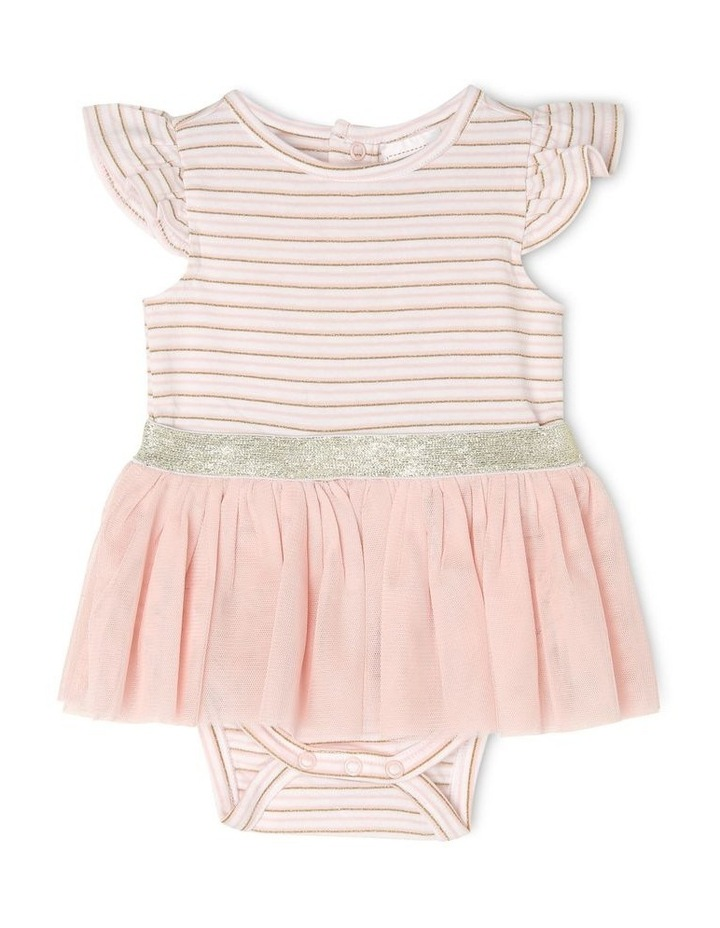 Tutu Bodysuit With Flutter Sleeve image 1