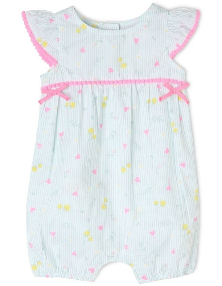 Woven Romper With Bows image 1