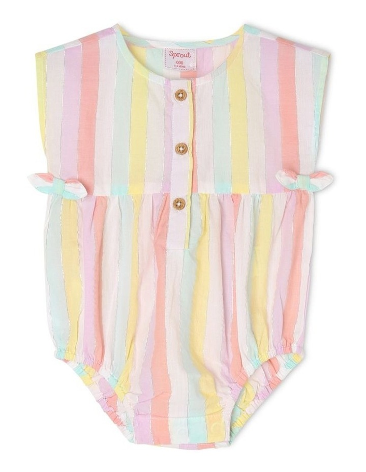 Woven Bodysuit With Placket image 1