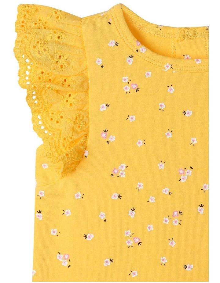 Broderie Sleeve Daisy Print Bodysuit image 2