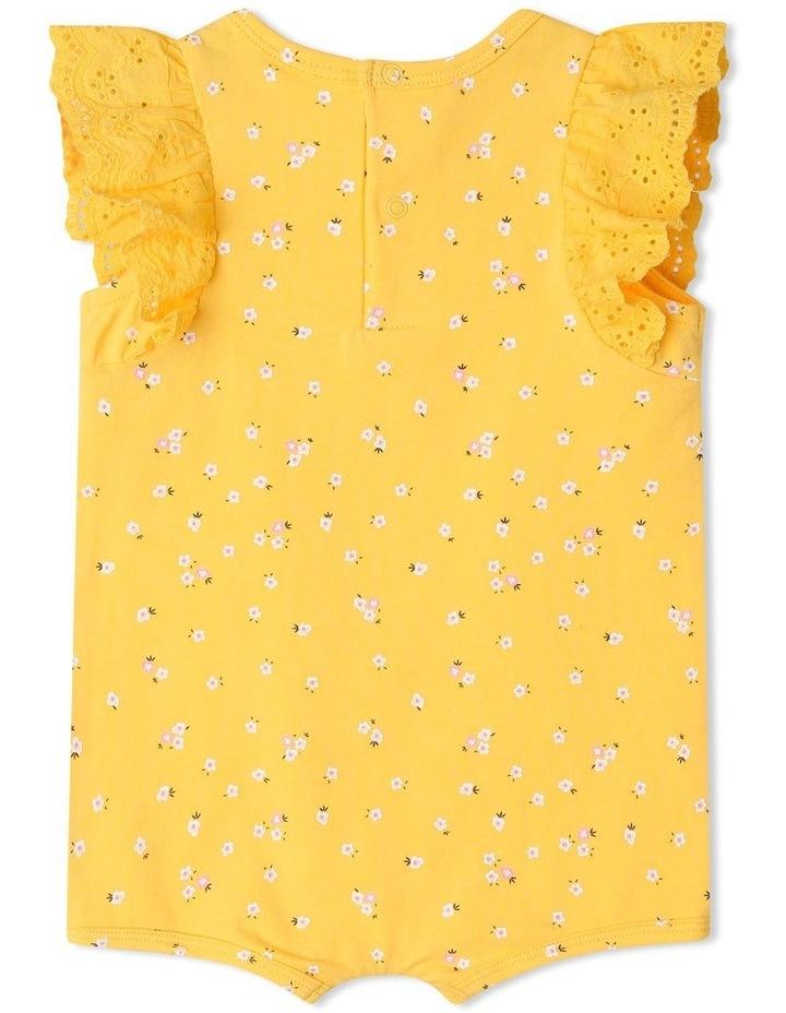 Broderie Sleeve Daisy Print Bodysuit image 4