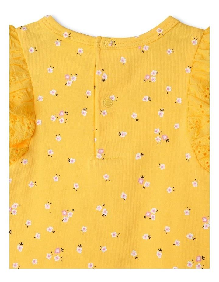 Broderie Sleeve Daisy Print Bodysuit image 5