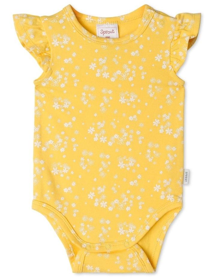 Organic Essential Daisy Flutter Sleeve Bodysuit image 1