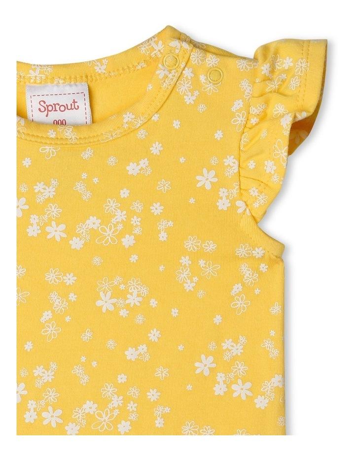 Organic Essential Daisy Flutter Sleeve Bodysuit image 2