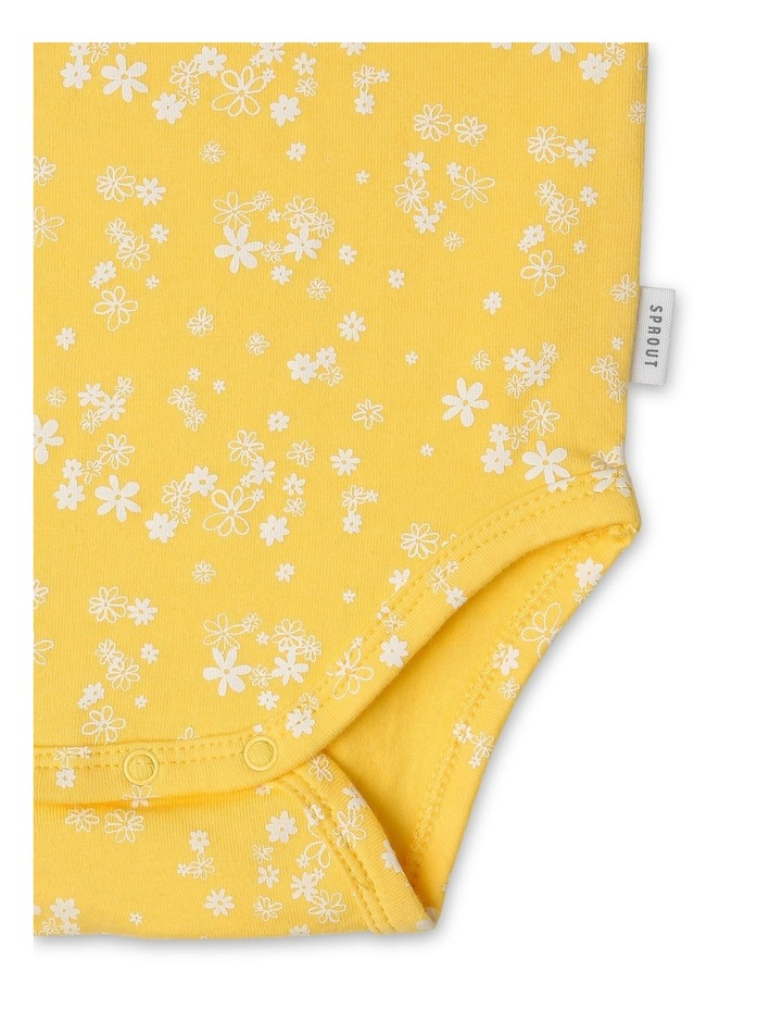 Organic Essential Daisy Flutter Sleeve Bodysuit image 3