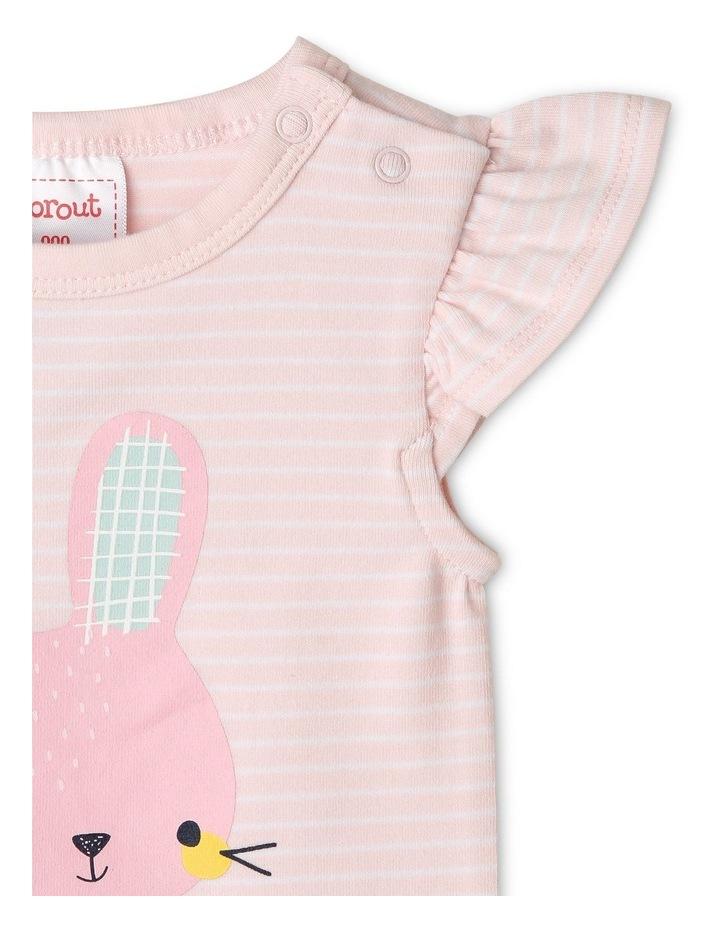 Organic Essential Stripe Bunny Bodysuit image 2