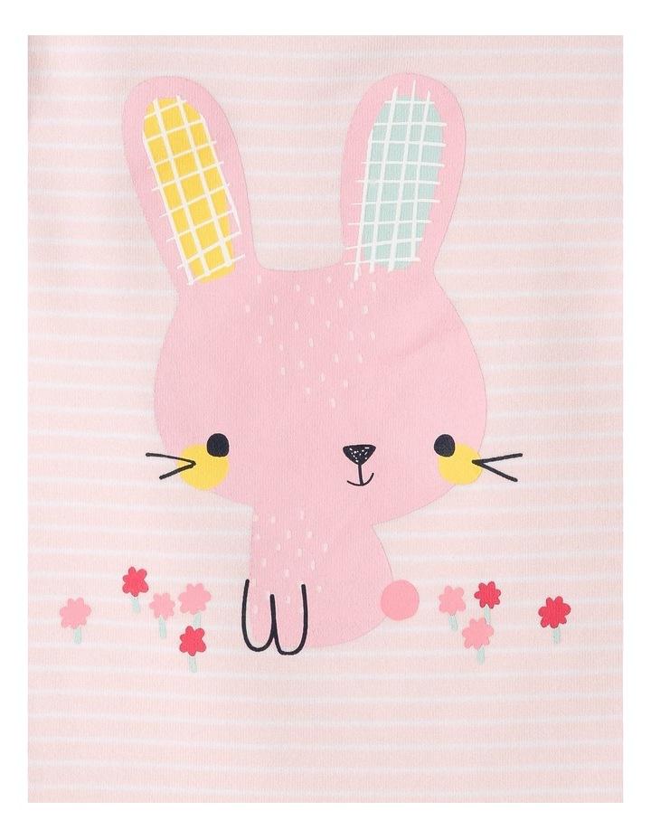 Organic Essential Stripe Bunny Bodysuit image 3