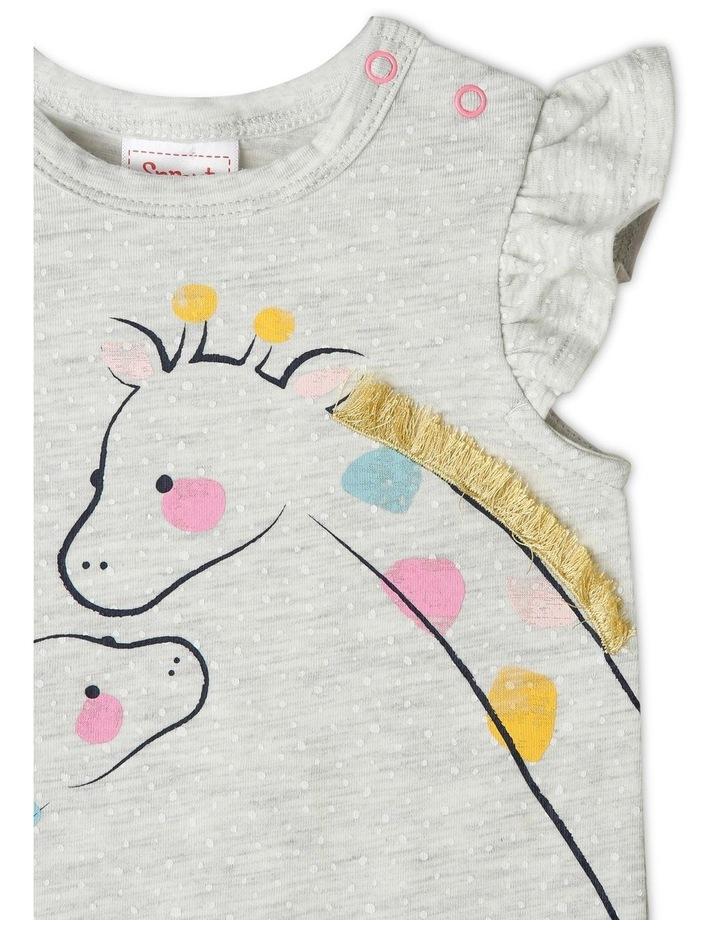3D Giraffe Kiss Print Bodysuit image 2