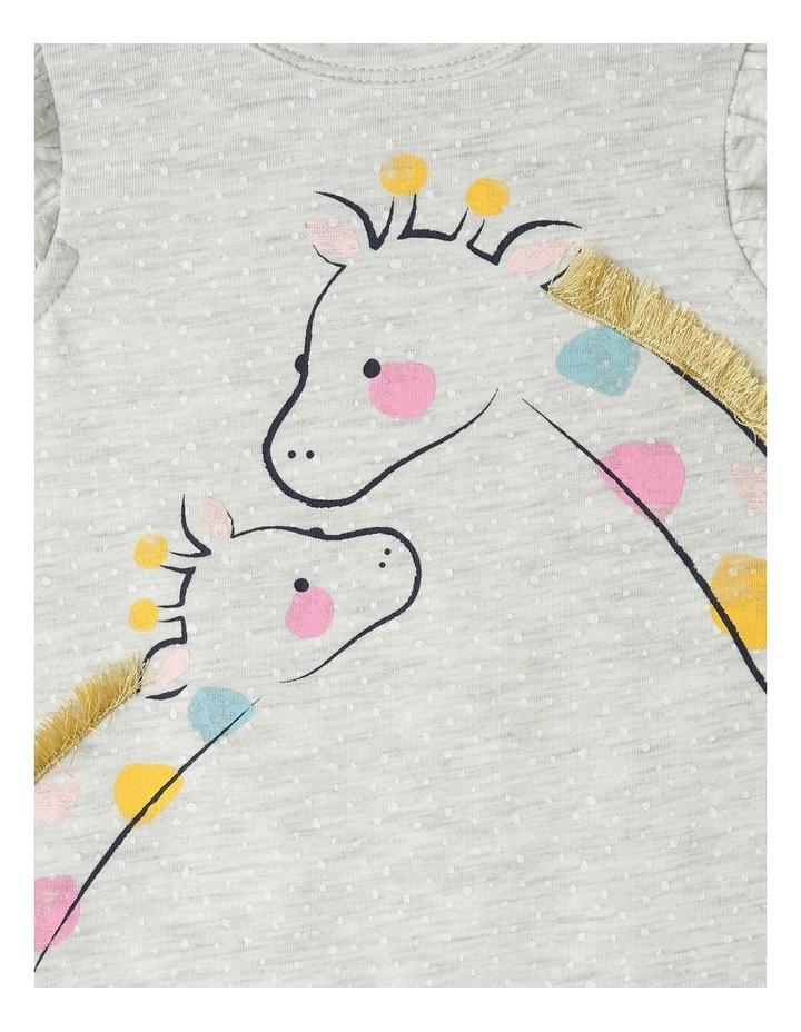3D Giraffe Kiss Print Bodysuit image 3
