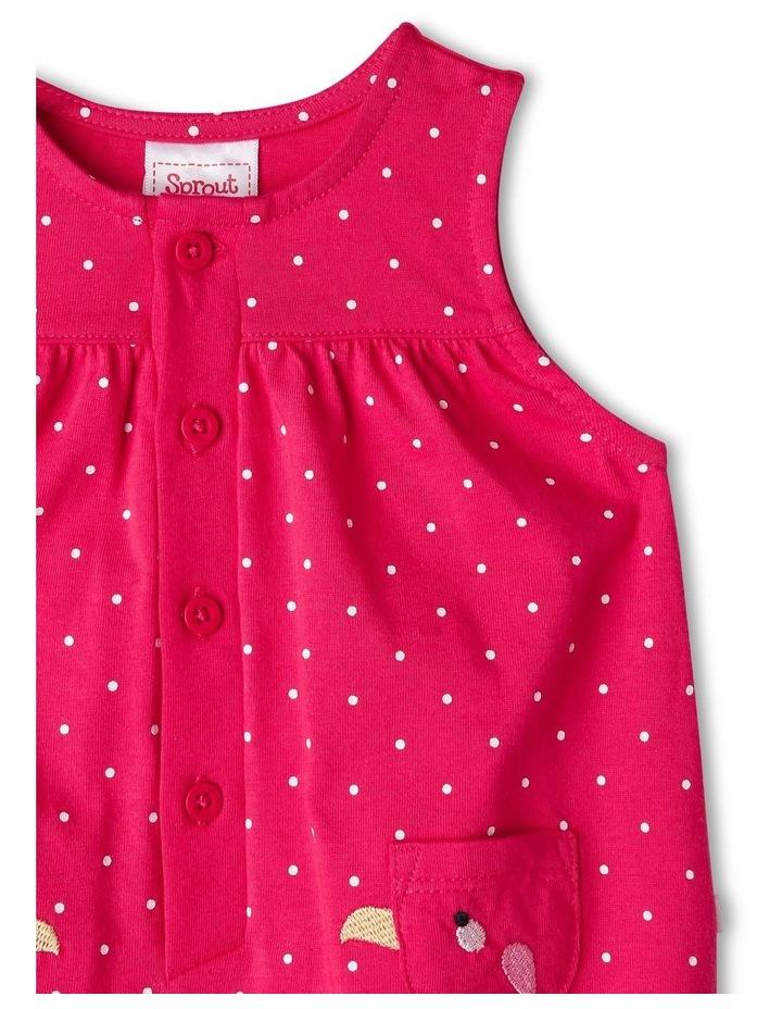 Ella Bird Pocket Polka Dot Print Bodysuit image 3