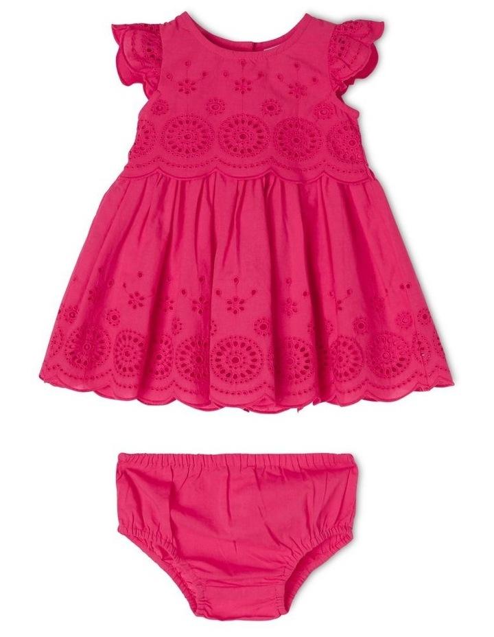 Broderie Flutter-Sleeve Dress image 1