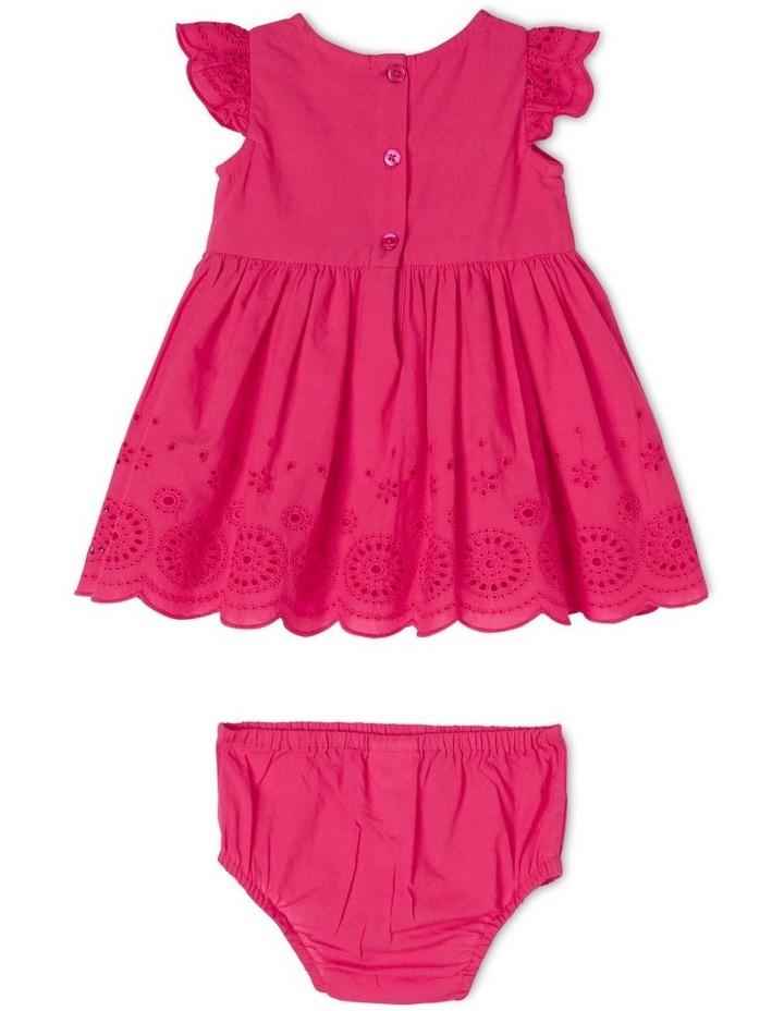 Broderie Flutter-Sleeve Dress image 2