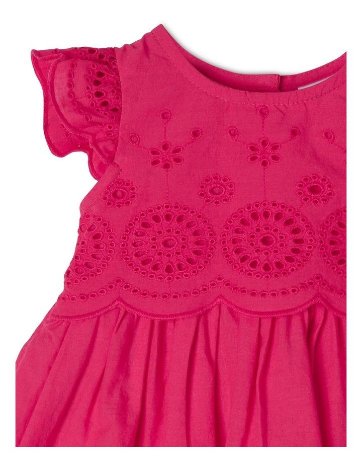 Broderie Flutter-Sleeve Dress image 3