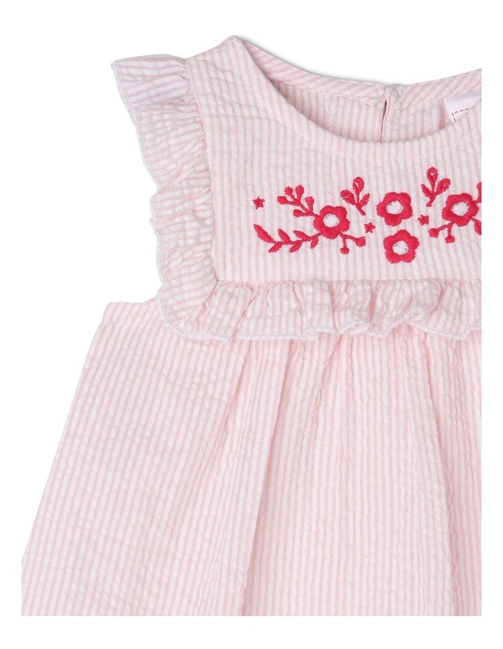 Woven Gathered Bib Dress image 3