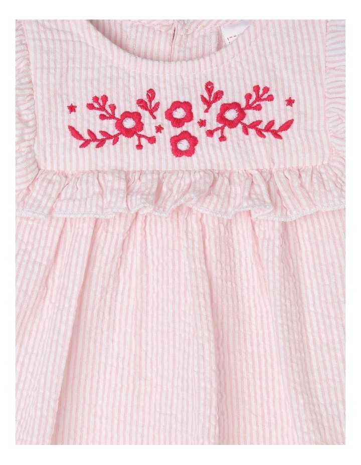 Woven Gathered Bib Dress image 4