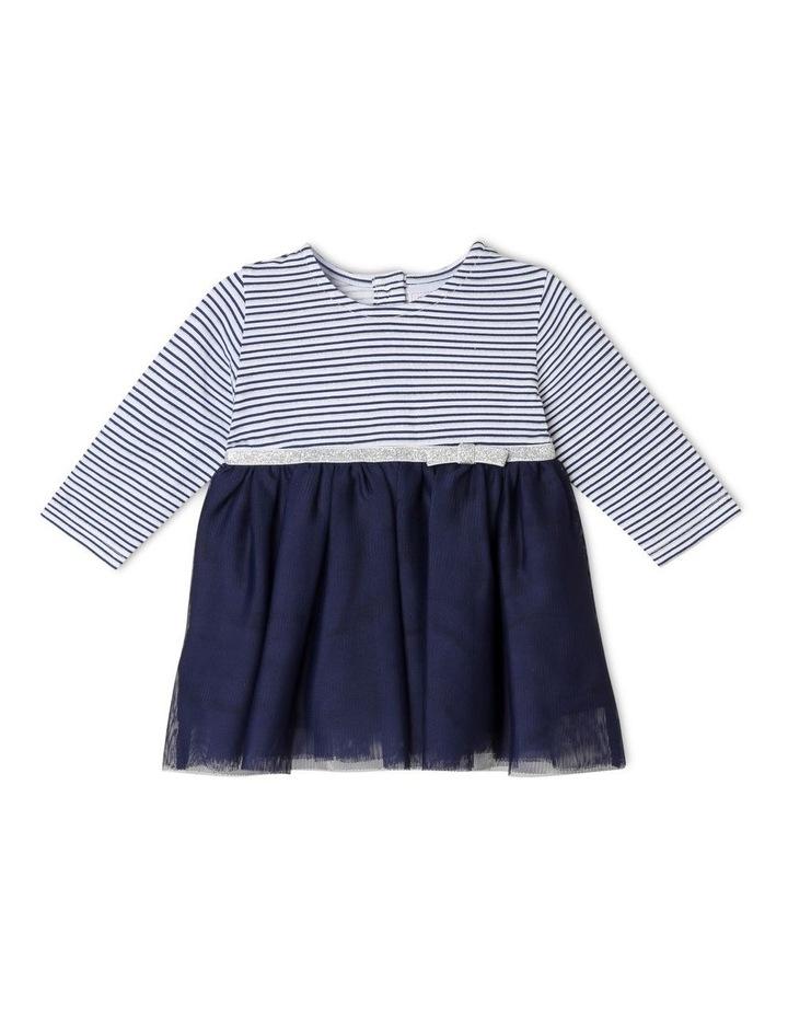 Yarn-Dye Striped Occasion Dress image 1