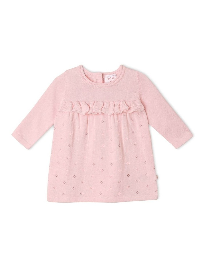 Girls Pointelle Knit Dress image 1