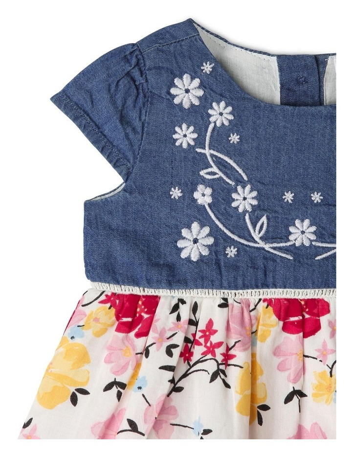 Cap Sleeve Chambray & Floral Dress image 2